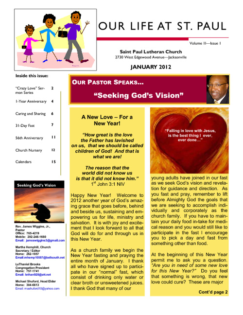 Newsletter -  Jan 2012
