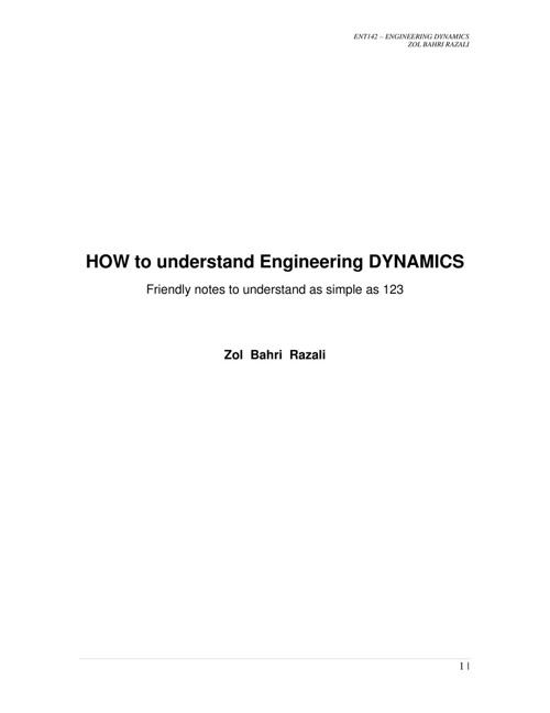 EngineeringDynamics as Easy as 123