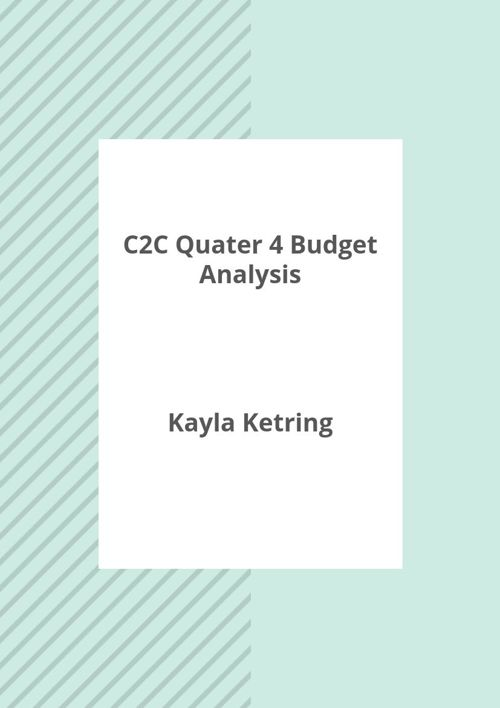 c2c final budget q4