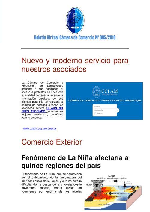 Boletín Virtual Cámara de Comercio Nº 005