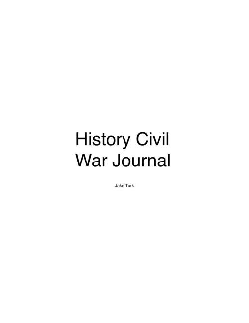 History Civil War journal pdf