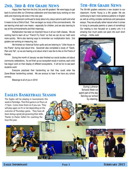St. Paul's Lutheran Preschool & School Newsletter
