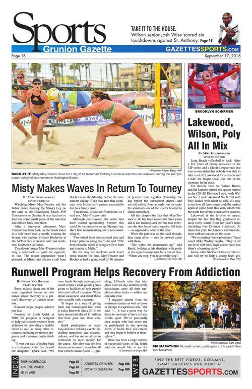 Gazette Sports | September 17, 2015