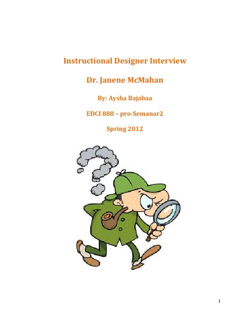 Instructional Designer Interview- Aysha