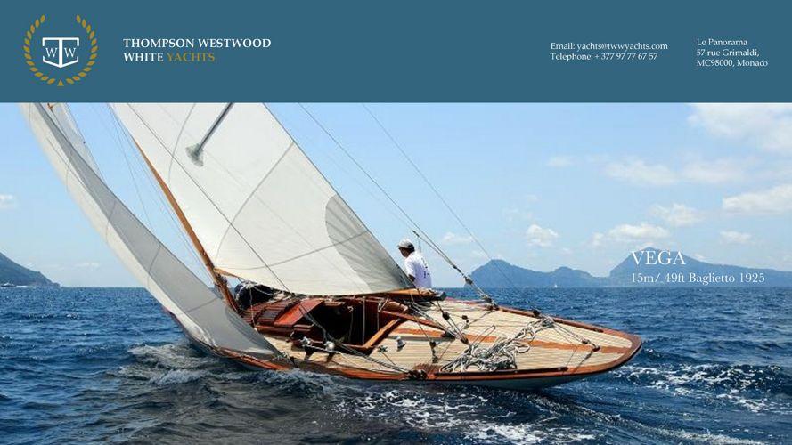 VEGA True vintage 1925, 15m / 49' Baglietto, sailing yacht