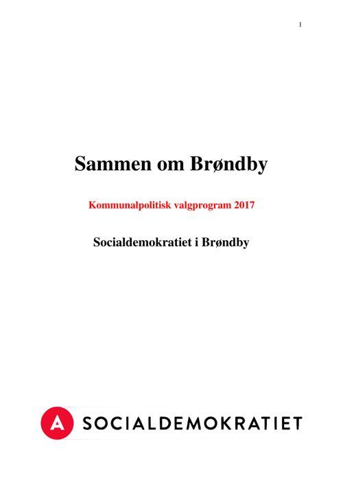 Sammen om Brøndby - Kommunalt valgprogram 2017