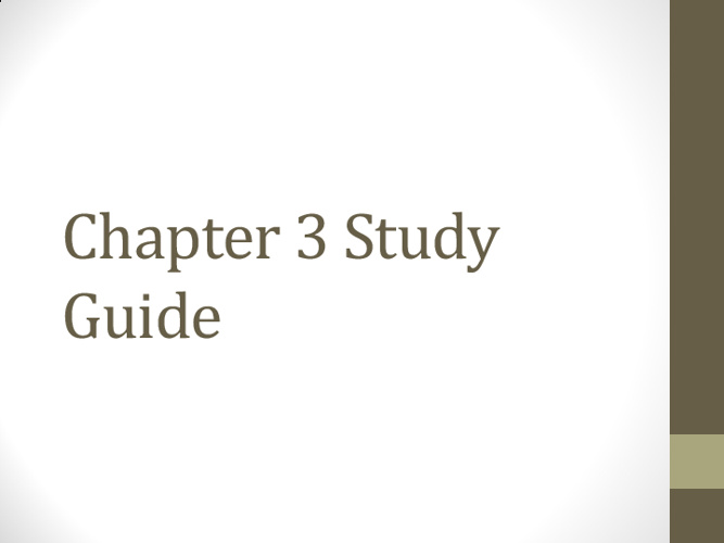Study Guide- Answers