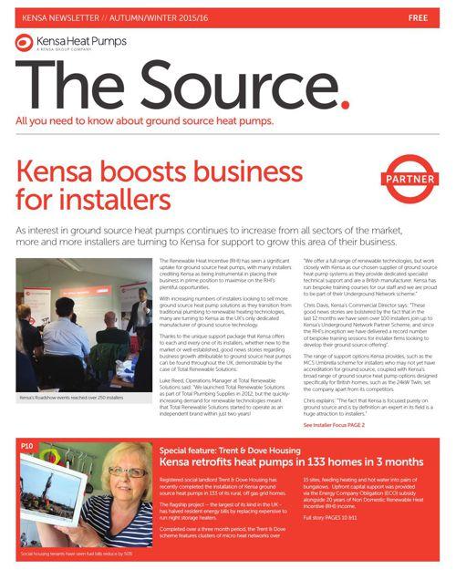 The Source 2015/16, Kensa Heat Pumps