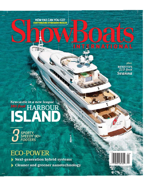 HARBOUR ISLAND Showboats Magazine cover feature May 2012