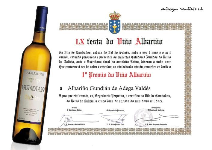 1ºPremio LX Fiesta Albariño 2012