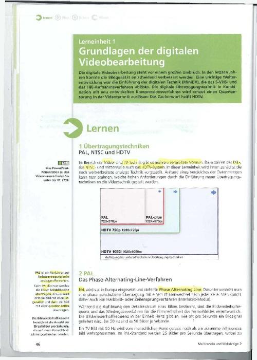 Grundlagen der digitalen Videobearbeitung