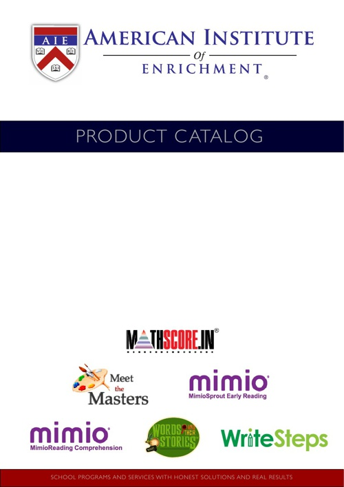 American Institute of Enrichment Product Catalog