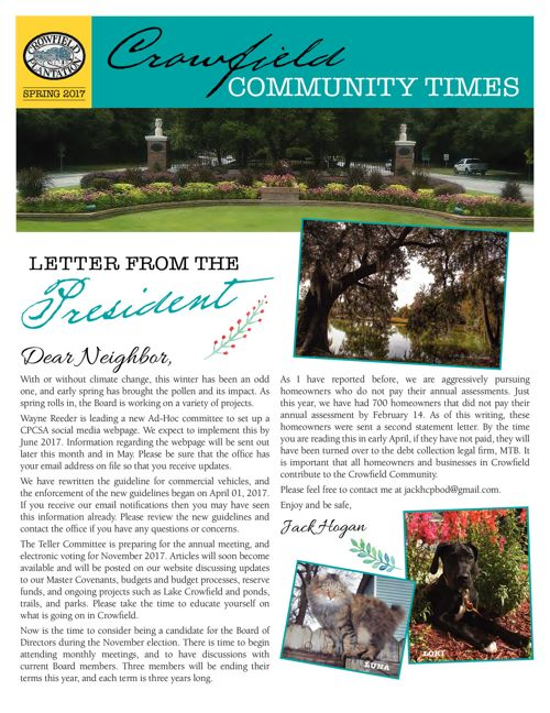 Crowfield Community Times Spring 2017