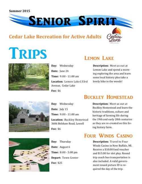 2015 Senior Spirit Newsletter