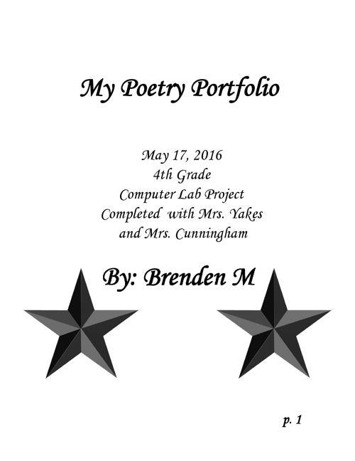Poetry-Portfolio-Brenden M.