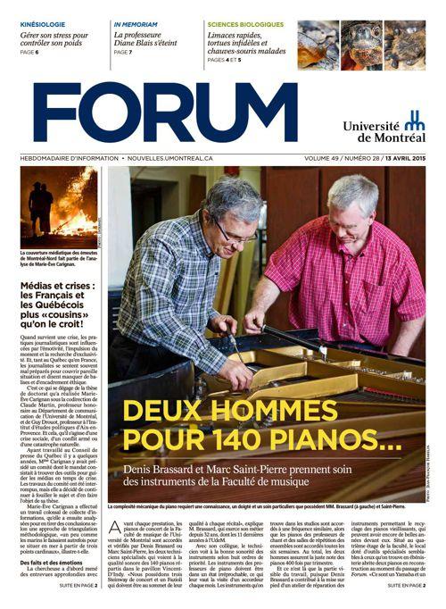 Forum - semaine du 13 avril 2015