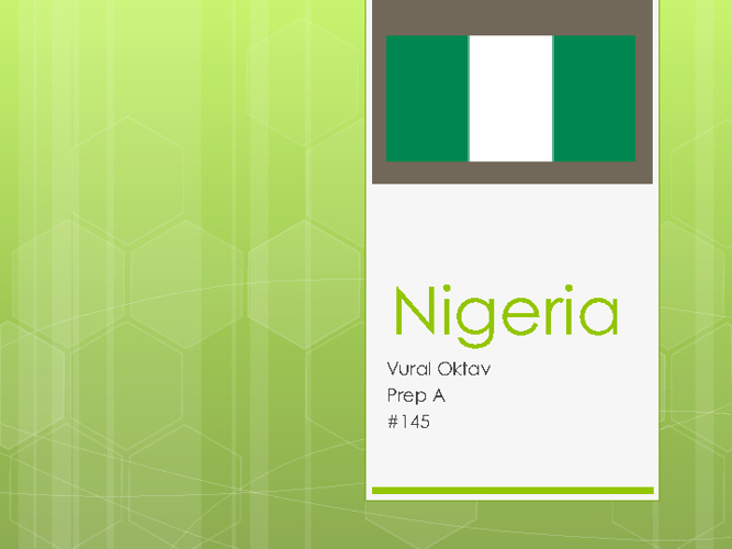 Vural - Nigeria Slide