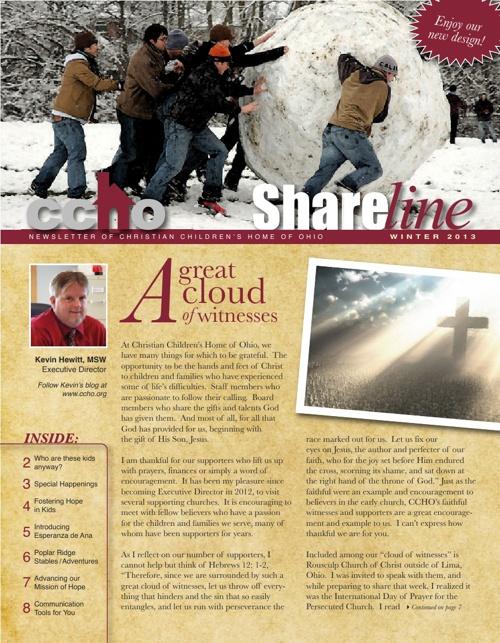 CCHO Shareline Winter 2013