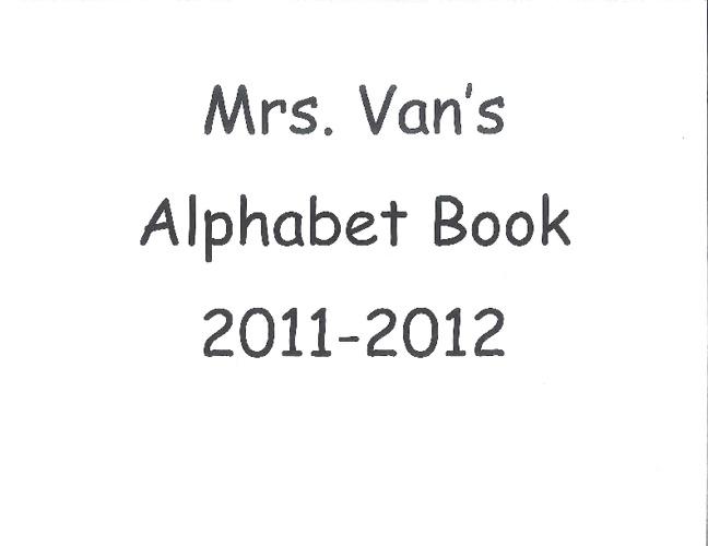Ms. Van's Alphabet Book