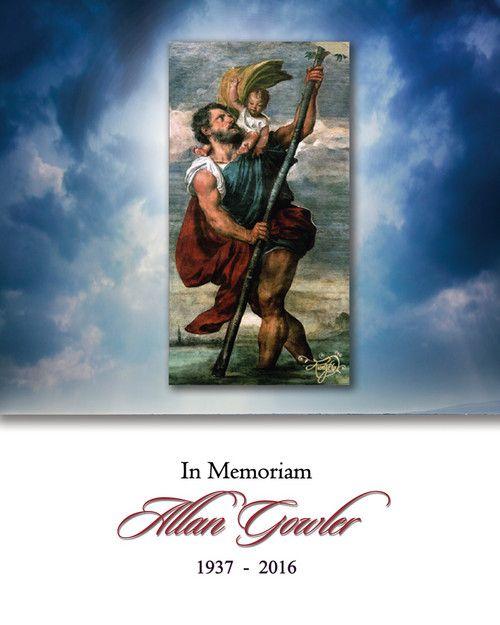 Memorial Card for Allan Robert Gowler