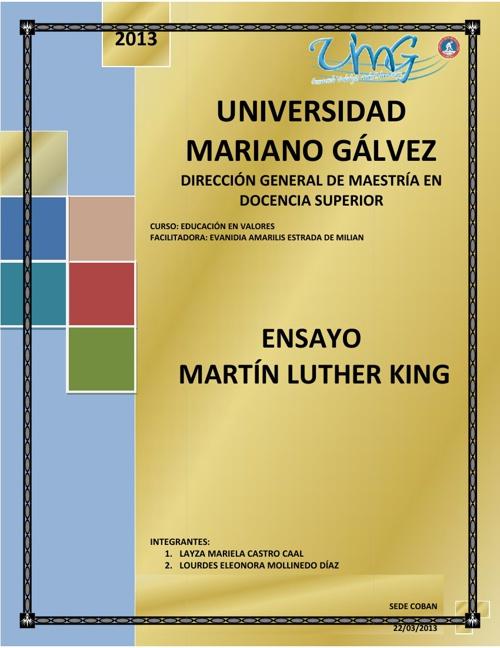 ENSAYO DE LUTHER KING
