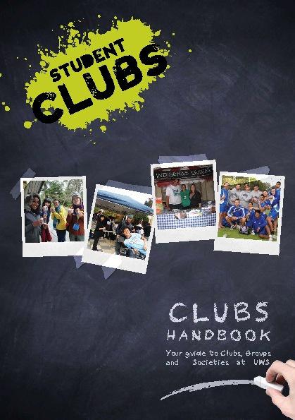 2012 Student Clubs Handbook