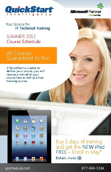 QuickStart Summer Schedule Mailer