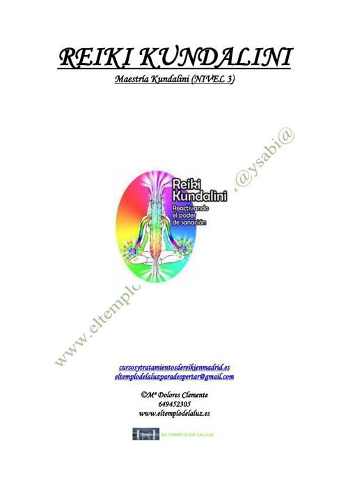 Manual Curso de Reiki Kundalini 3(ma)