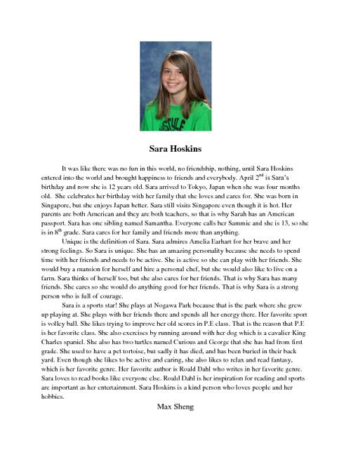 sara's biography