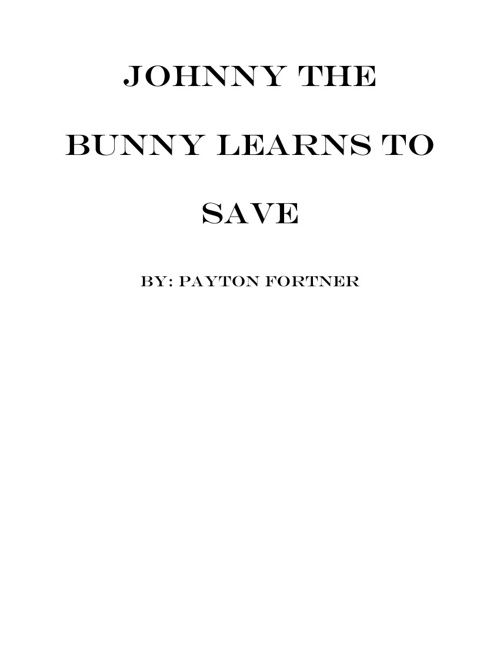 Johnny the Bunny learns to save