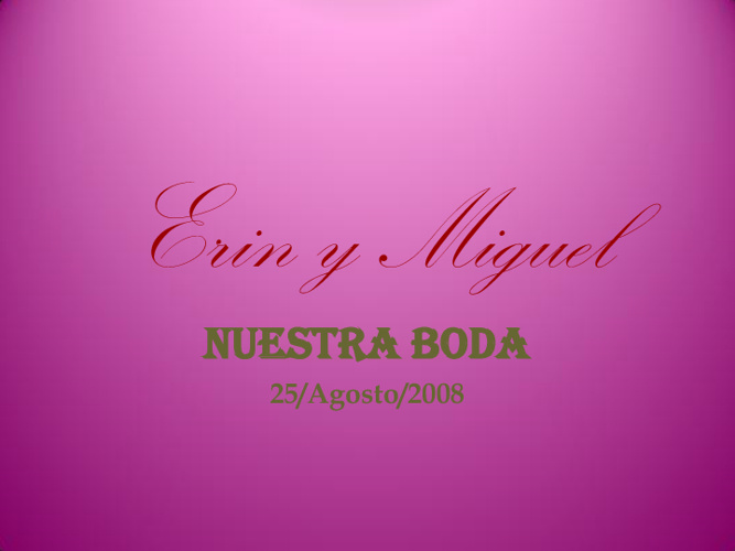 Boda Erin & Miguel