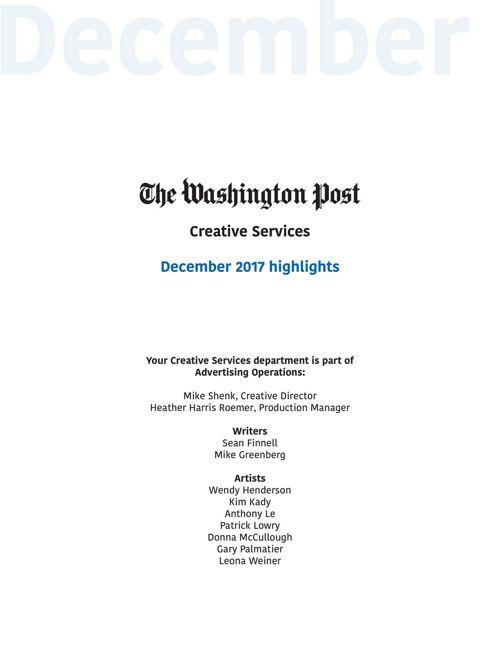 Creative Services December highlights