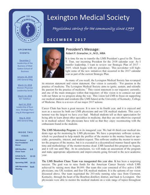 Dec2017 newsletter
