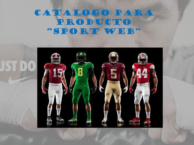 CATALOGO PARA PRODUCTO sport web