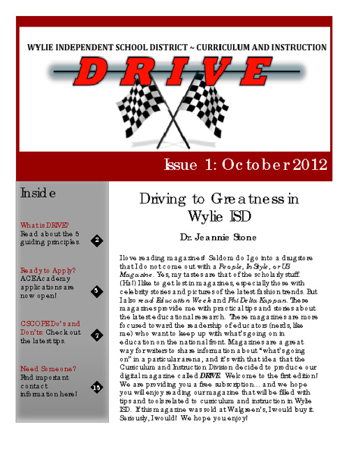 DRIVE Issue 1