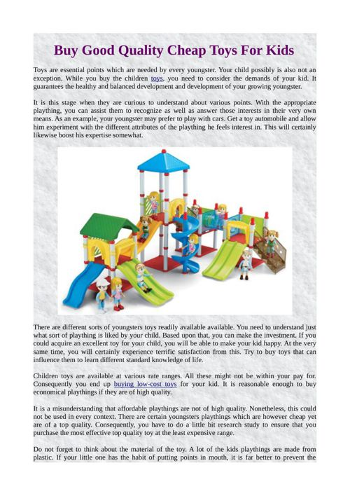 Buy Good Quality Cheap Toys For Kids