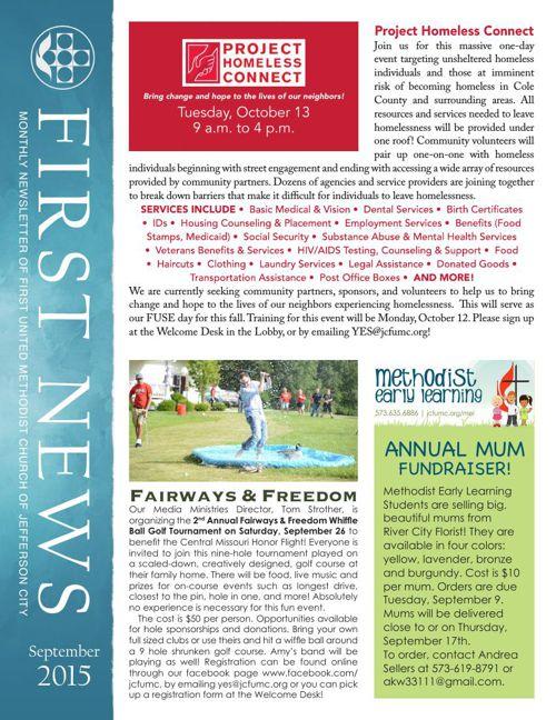 September Newsletter from First United Methodist Church