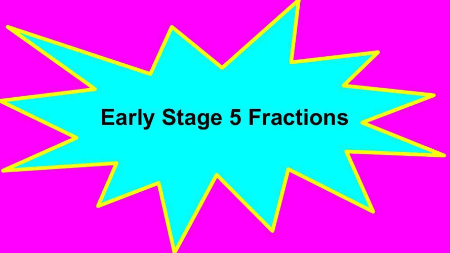 Atareita Early Stage 5 Fractions