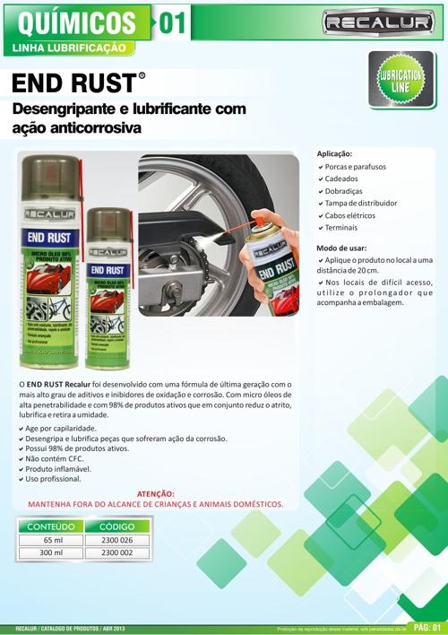 LINHA LUBRIFICAÇÃO 01 A 14