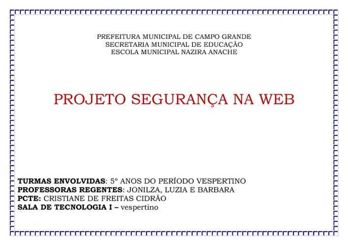 Projeto Segurança na Web