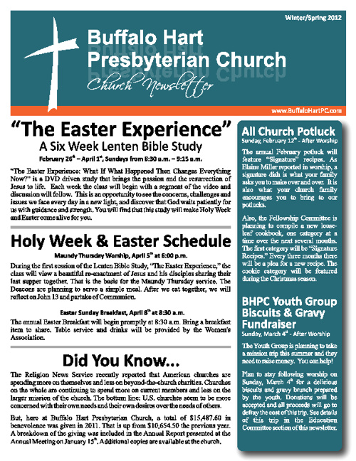 BHPC Winter Newsletter 2012