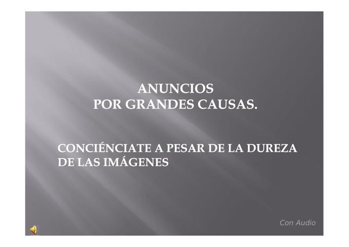ANUNCIOS POR GRANDES CAUSAS