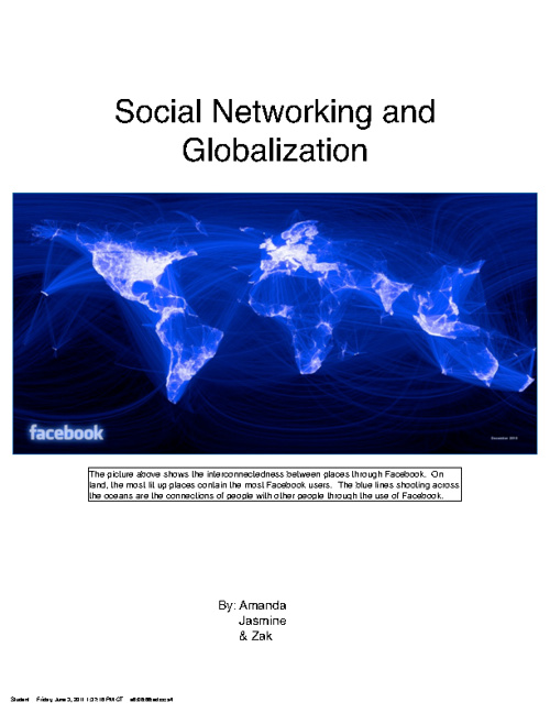 Social Networking and Globalization