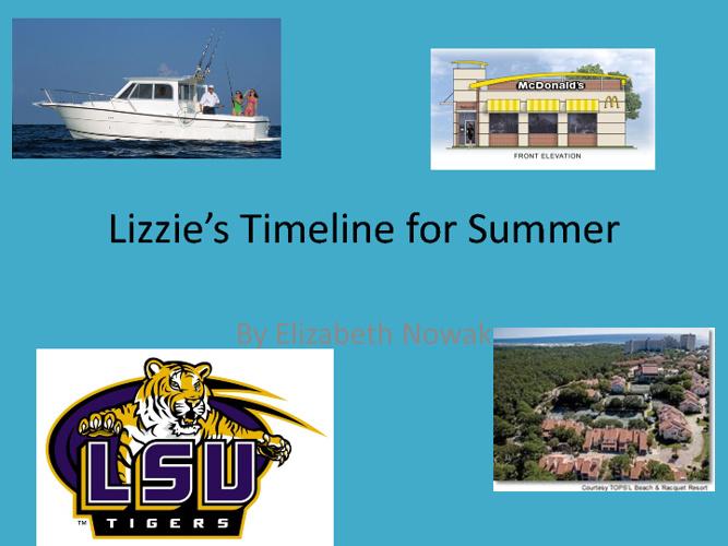 lizziestimeline for summer