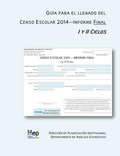 Guia -- I y II Ciclos CE 2014-IF