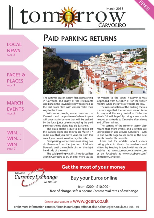 Tomorrow Carvoeiro March 2013