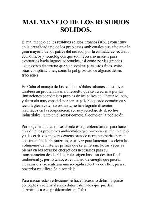 (641047717) MAL MANEJO DE LOS RESIDUOS SOLIDOS
