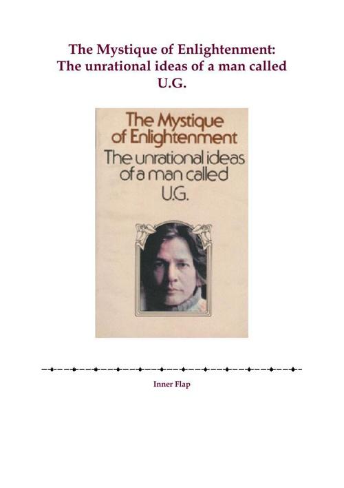 U.G.-Krishnamurti-The-Mystique-of-Enlightenment