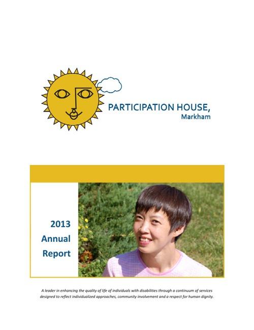 2012-13 Annual Report | Participation House, Markham