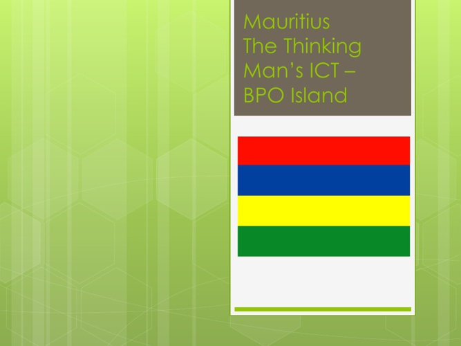 Mauritius for Outsourcing